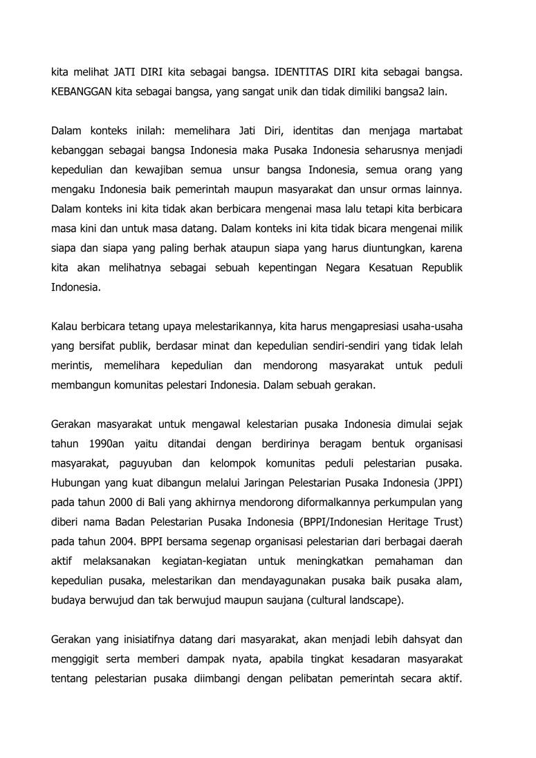 Pidato Mengawal Kelestarian Pusaka Indonesia_TPI 2015   Bogor final-2