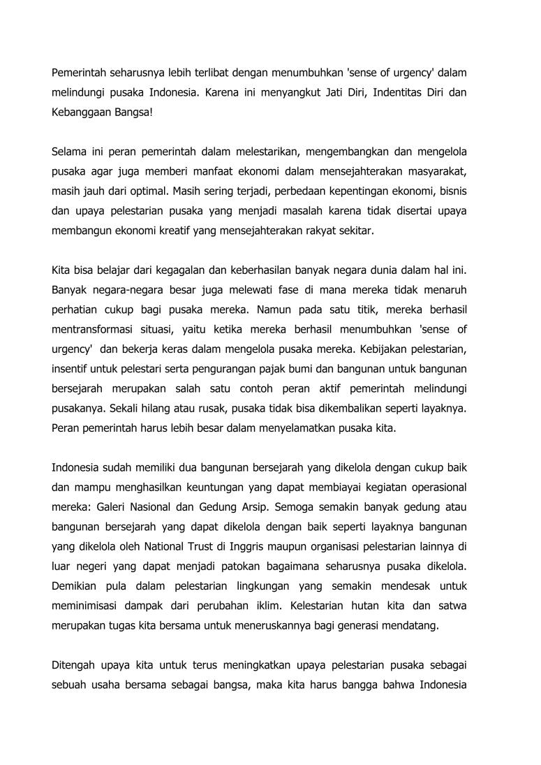 Pidato Mengawal Kelestarian Pusaka Indonesia_TPI 2015   Bogor final-3
