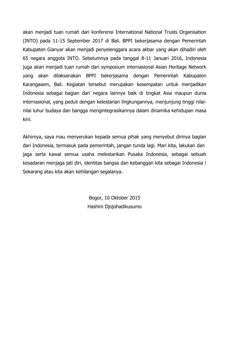 Pidato Mengawal Kelestarian Pusaka Indonesia_TPI 2015   Bogor final-4